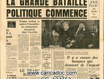«La grande bataille politique commence», France soir, 22/5/1968.