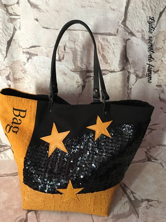 "Sac ""BAG CHIC "" sequins noir"