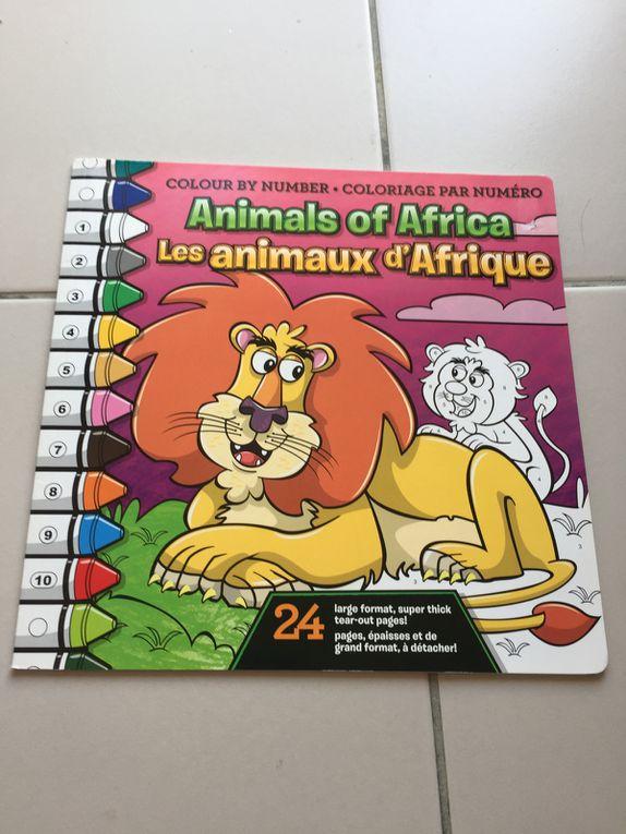 livre de coloriage par numero -animaux - bilingue - beaverbooks  sur charlotteblablablog