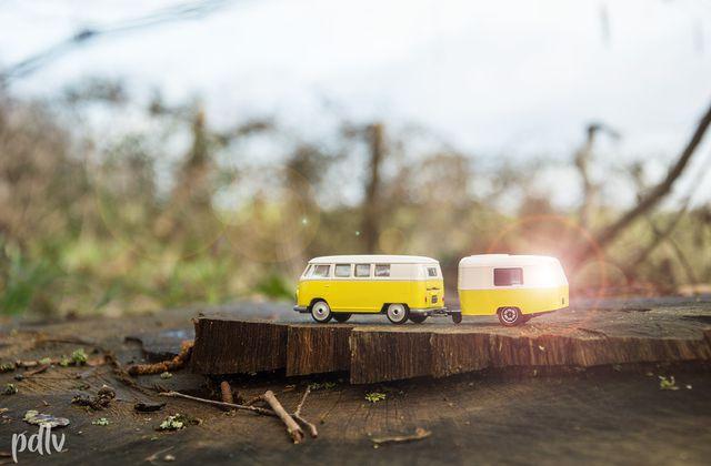 1/64 Volkswagen Combi & sa caravane Eriba, Majorette (212052014)