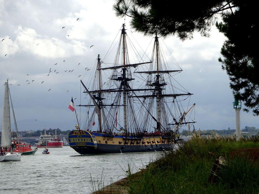 L'Hermione arrive aujourd'hui à Bayonne    ----         Photos D.Amestoy