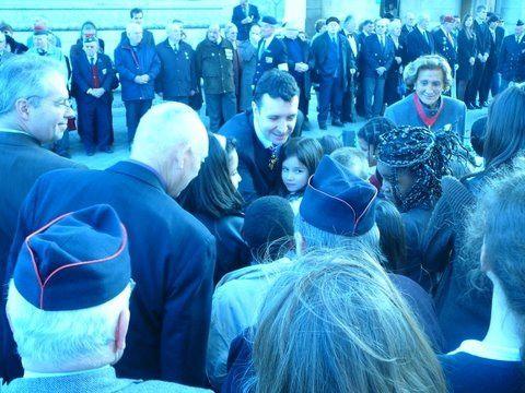 Ravivage de la Flamme sous l'Arc de Triomphe. Assemblée Générale 2009/ 2012/2015