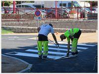 Saint André les Alpes : Au parking de la mairie on a passé la ligne blanche