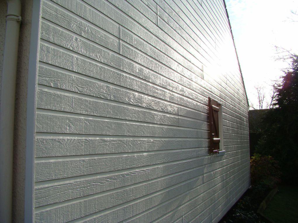 Notre premier chantier (2009) en bardage pour habiller et isoler vos maisons.