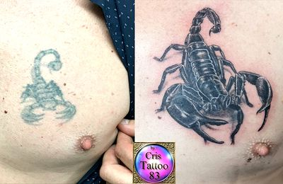 tattoo cover scorpion