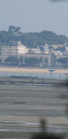 La queue de la baleine bleue, vue de la Presqu'île du Cap-Ferret...