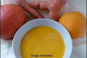 Soupe vitaminée au potimarron, carotte & orange