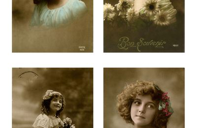 Les petites filles des cartes postales