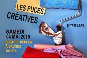 Les Puces Créatives de Bruges samedi 4 mai 2019