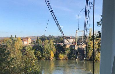 Effondrement d'un pont suspendu en Haute-Garonne : 1 mort, 5 blessés, 2 disparus (dernier bilan)
