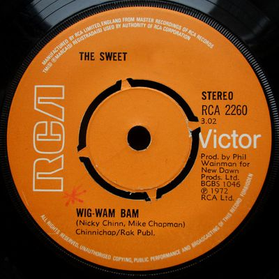 The Sweet - Wig-wam bam / New York connection - 1972