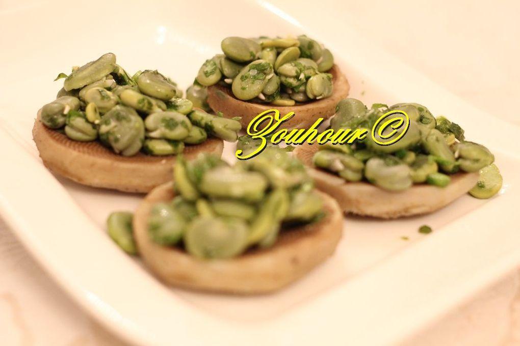 Artichaut aux fèves vertes (Artichokes with green fava beans)