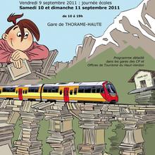 Thorame Haute (Gare) reportage festival du livre et salon du rail