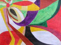 Peintures de Françoise Costa, Christophe Assémat, Joëlle Chevallier, Magda Rebutato, Marie-Odile Cadé, Mireille Canal.