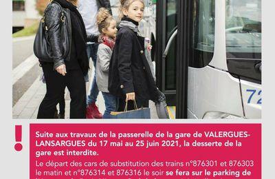 le temps de repeindre la passerelle de la gare la desserte des trains ne sera plus assurée à Valergues