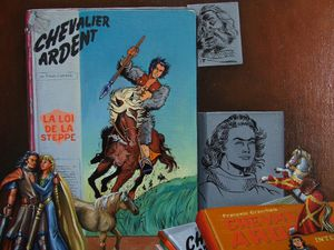 Nature morte BD Chevalier Ardent.