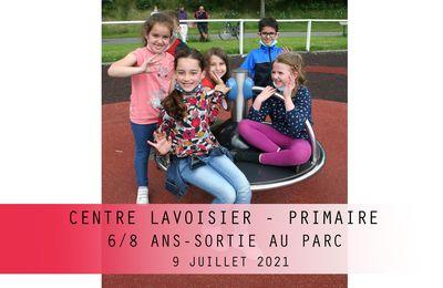 Centre LAVOISIER Primaire 6/8 ans. Sortie au Parc Urbain. Juillet 2021.