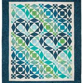 "Our Hearts Will Go On Quilt Pattern | You'll love this timeless Storm-at-Sea design especially when you use your favorite fabrics! The heart motif is fun, making this quilt a great gift for your loved ones. This bed quilt pattern includes project instructions for two sizes (85"" x 100"" pictured). Originally featured in Keepsake Quilting's Almost Spring 2016 catalog."