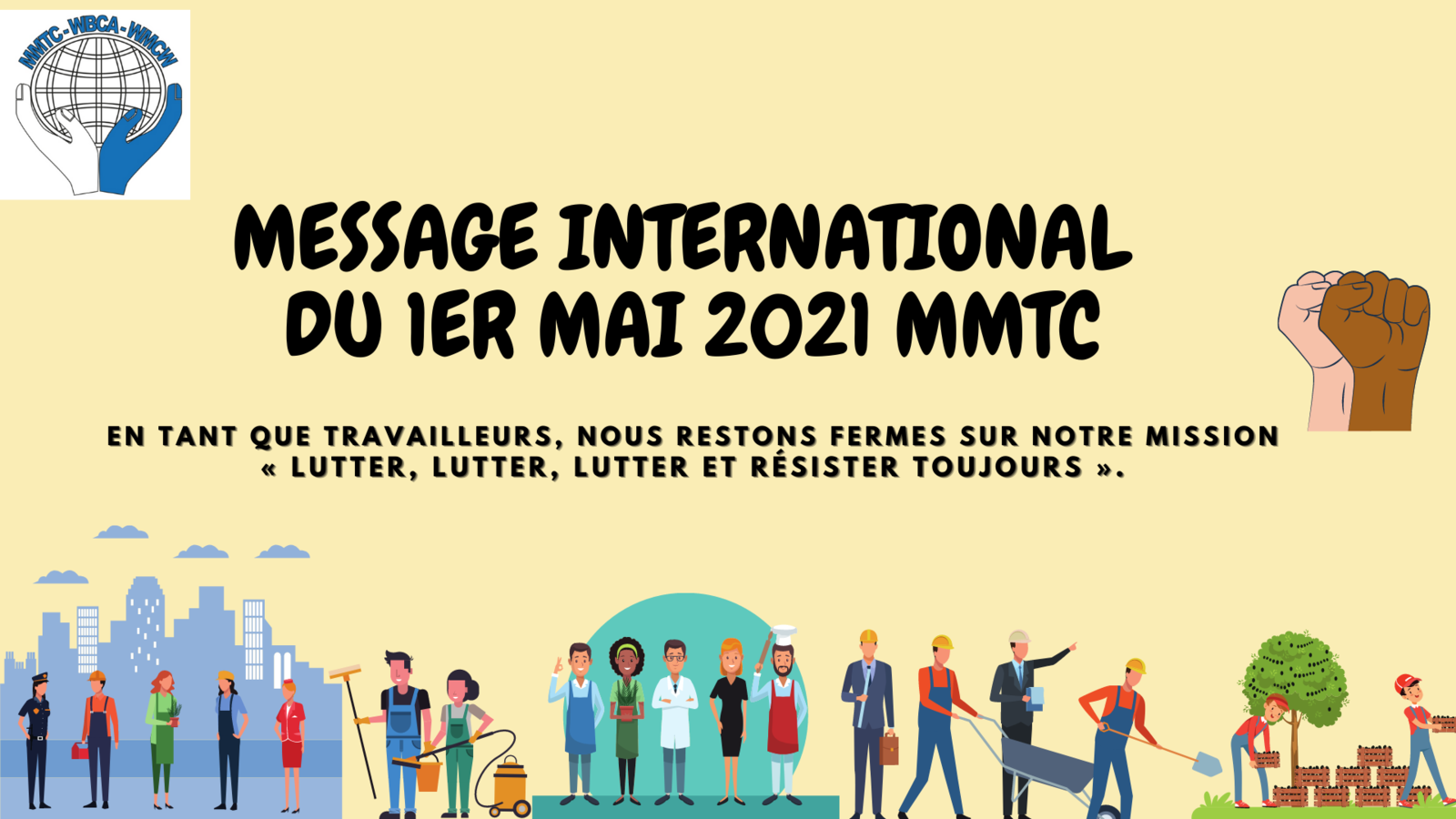 Premier Mai 2021: message international du MMTC