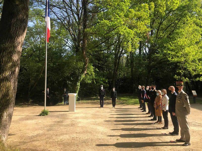 Journée nationale du souvenir de la déportation le dimanche 25 avril 2021 au Monument aux fusillés de Belle-Beille. | PHOTO CO – EMMANUEL POUPARD
