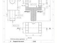 Etude des spécifications liées à la fabrication d'une pièce
