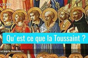 Toussaint (en pratique, la célébration de tous les Saints ce 1er novembre symbolise également la célébration de tous les défunts qui en principe se célèbre au 2 novembre)