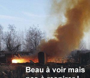 Brûler des déchets ménagers: dangereux et illégal