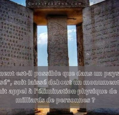 The Georgia Guidestones [ Les pierres directrices de Géorgie], par The Vigilant Citizen