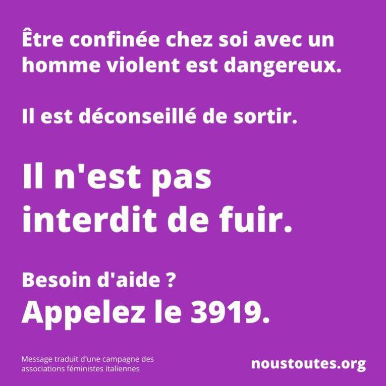STOP  aux violences conjugales : 3919 ou 114 par SMS