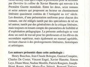 """J.-H. Rosny aîné """"La Guerre du Feu"""" in Anthologie du roman historique en Belgique francophone (2008)"""