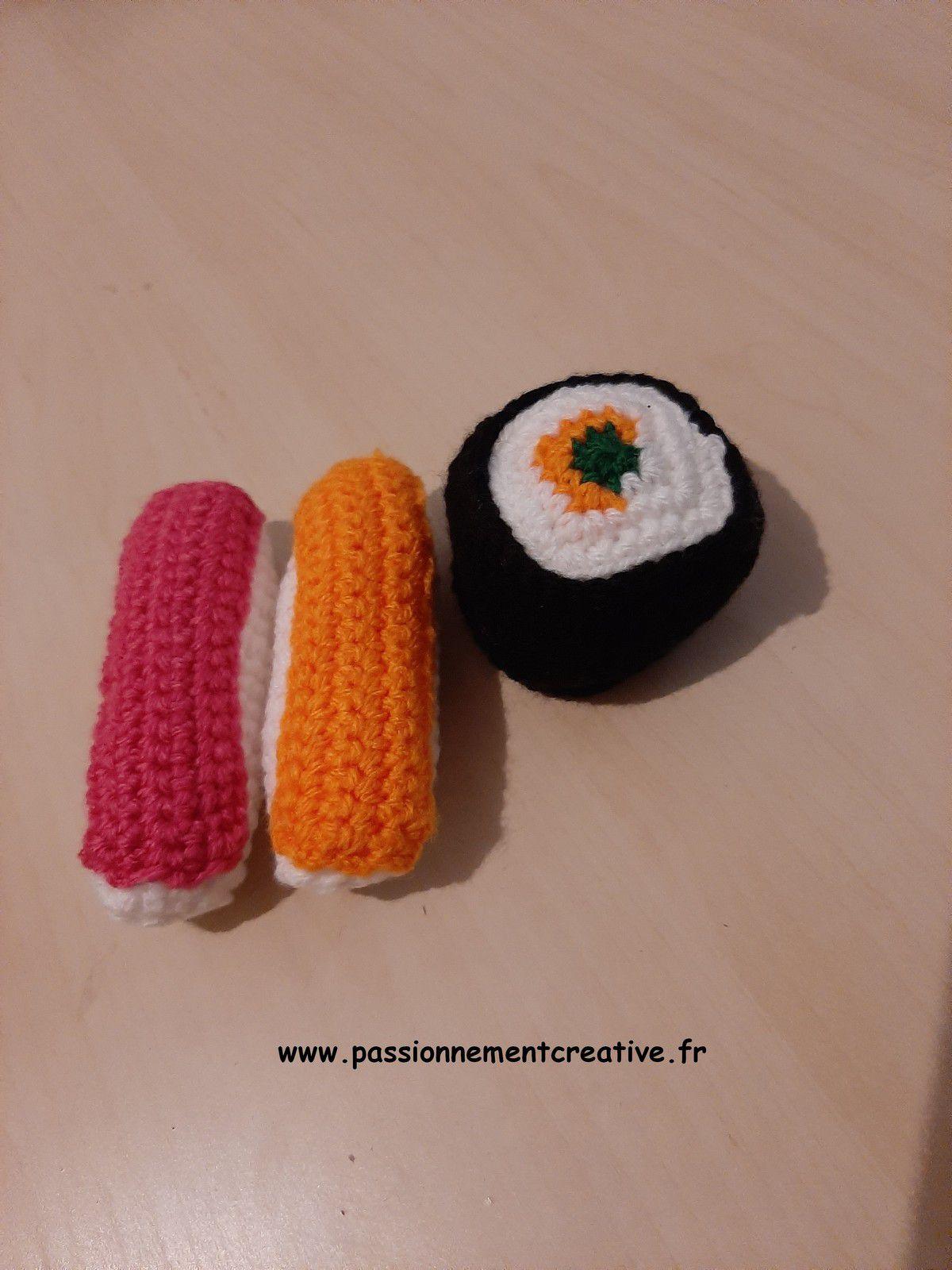 Dinette au crochet : les sushis