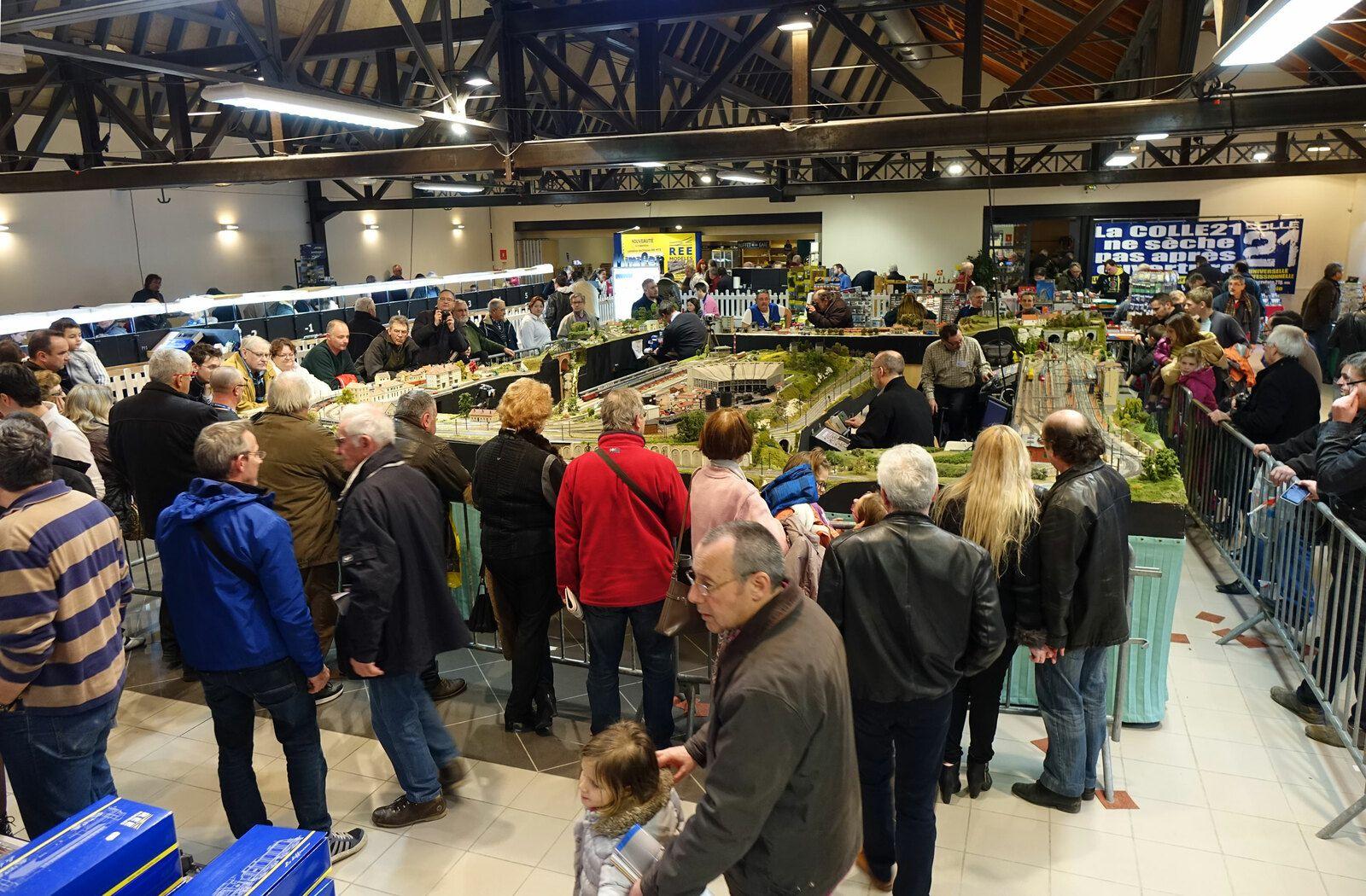 Le public était nombreux autour du réseau de l'AMFR lors de l'expo 2016 à Romilly-sur-Seine.