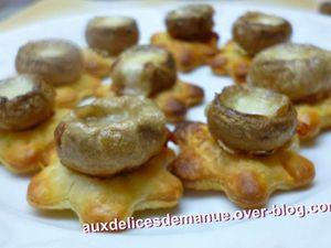 toasts de champignons farcis au Parmesan