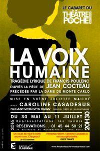 LA VOIX HUMAINE au Théâtre de Poche Montparnasse