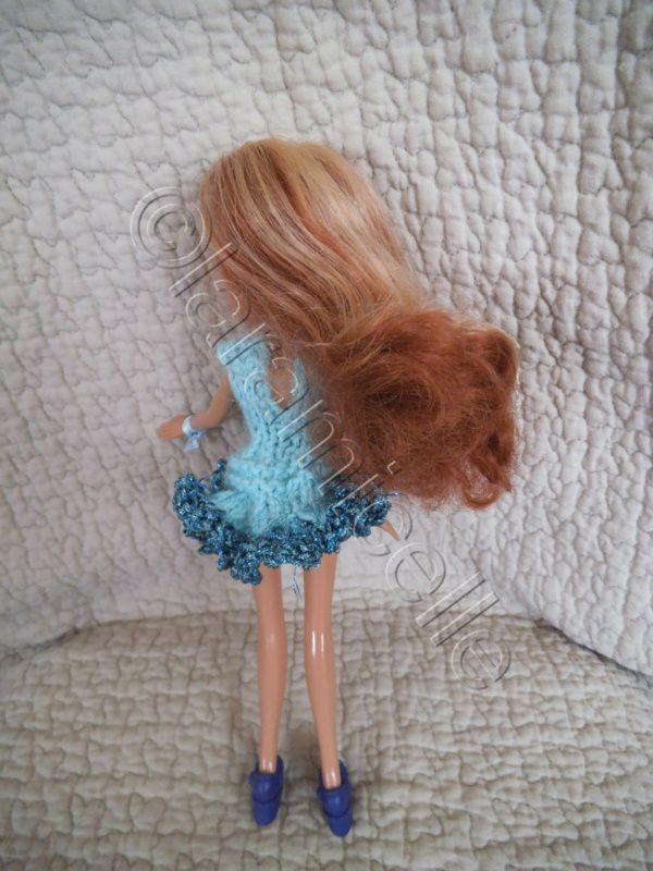 tuto gratuit Bratz: mini robe ajourée et volant en lamé
