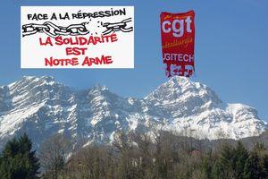 Rassemblement de soutien à un élu CGT d'Ugitech