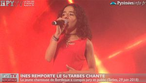 Inès triomphe à Tarbes Chante 2018 (29 juin 18) | HPyTv La Télé de Tarbes
