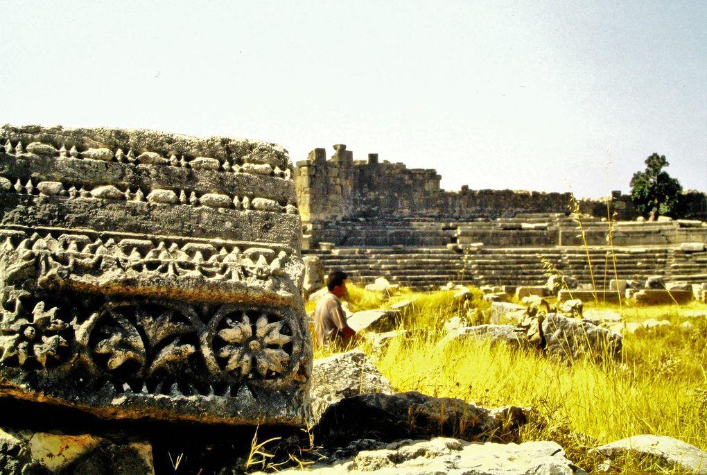 Oublions les sites les plus fameux et allons plutôt découvrir théâtres ( Knidos/ Cnide ) et stades oubliés au fond des plaines ( Aphrodisias   ), temples en ruines perdus dans un  coin de campagne, qui n'ont parfois fait l'objet d'aucune fouille archéologique. Eh bien,  il y en a partout, au milieu des terres comme près de la mer (  Patara, 6 dernières dias )! Alors, il suffit parfois de disperser le sable qu'on a sous les pieds pour faire apparaître une émouvante mosaïque du IIème siècle.