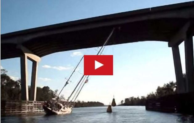 How to get a 80' rig, under a 65' bridge ?