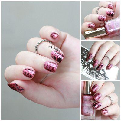 Nail art stamping love