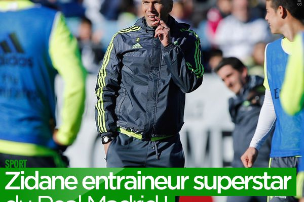 Zidane entraineur superstar du Real Madrid ! #Zidane