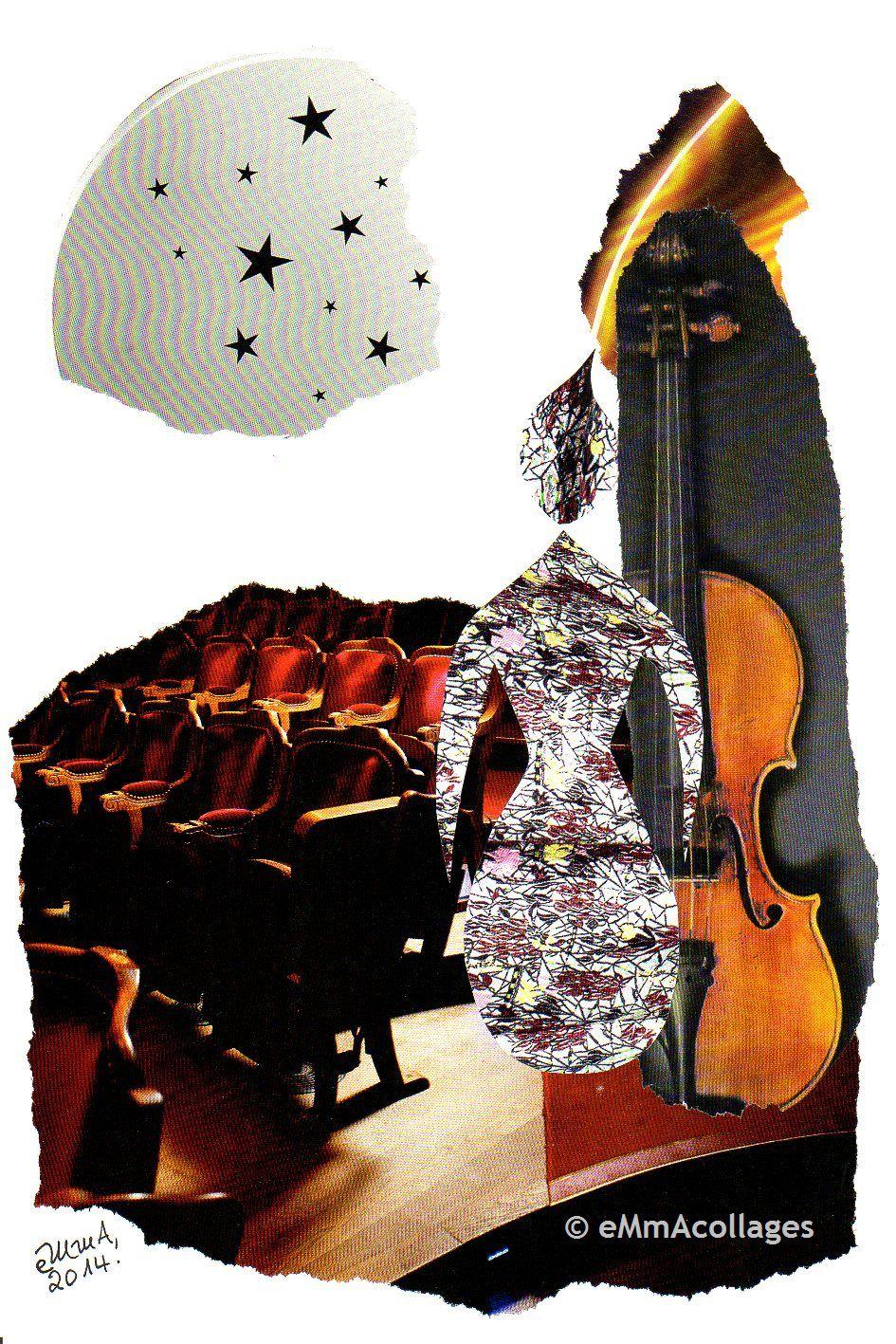 """Les Collages d'eMmA MessanA, collage N°232""""Stella"""", exemplaire unique © eMmA MessanA"""