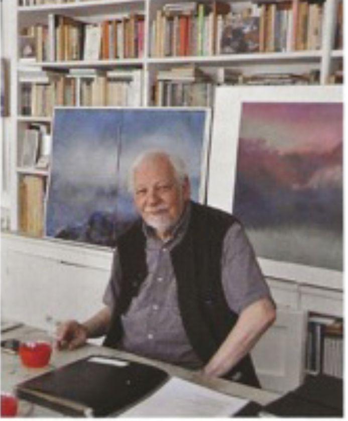 Gérard Cabus dans son atelier