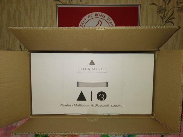 unboxing enceinte multiroom stéréo active Triangle AIO3 @ Tests et Bons Plans