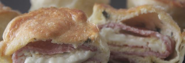 La recette des muffins quiche au cœur coulant à l'emmental