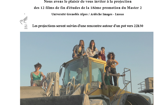 Projection des films étudiants le 25 et 26 mai