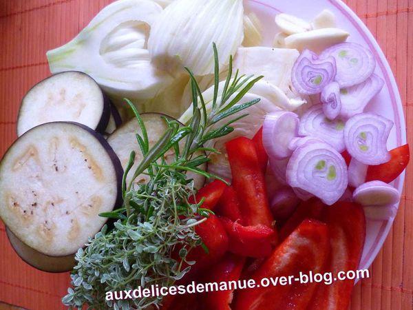 fenouil, aubergine et poivron au four -LIGHT-