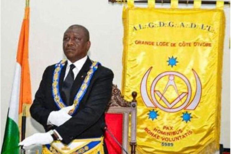 Sylvère Koyo  Grand-Maître par interim de la Grande loge de Côte d'Ivoire (GLCI) en remplacement d'Hamed Bakayoko (ici en photo).
