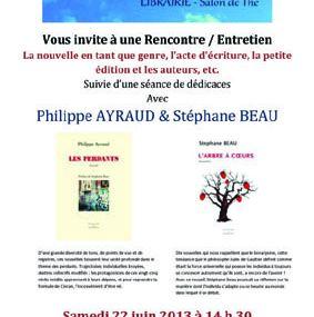 Rencontre avec notre ursidé Philippe Ayraud le 22 juin à 14 h 30