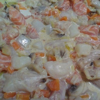 Ma blanquette de poissons aux petits légumes